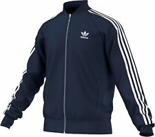 NEW MEN'S ADIDAS ORIGINALS SUPERSTAR TRACK JACKET ~SIZE 2XL   #BK5919 BLUE