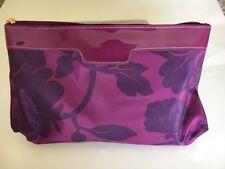 Shiseido Makeup Zippered Cosmetic Purple Fl Bag