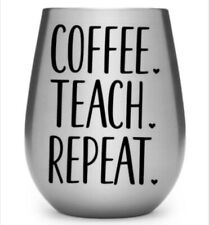 coffee teach Repeat decal sticker Decal, Yeti Tumbler Decal, glass trucks c
