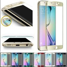2 X Full Coverage 9h Tempered Glass Screen Protector for Samsung Galaxy S6 Edge Gold