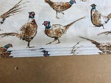 Roman Blind Game Pheasant Interlined Mechanised Corded Track MTM
