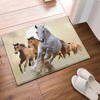 Horses Kitchen Bath Bathroom Shower Floor Home Door Mat Rug Non-Slip 40*60cm New