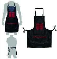 Professional Leather Luxury Hairdressing Apron Cape for Barber Hairstylist Black