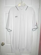 Under Armour Classic White Under Armour Logo Xl Golf Polo Shirt