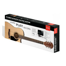 Fender Fa-300Ce Acoustic-Electric Pack with Slide Interface, New!