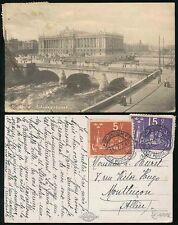 SWEDEN 1924 UPU SPECIAL CANCELS 15o + 5o on PPC to FRANCE
