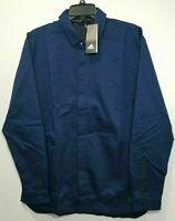 Mens Adidas Adicross Chino Shacket Jacket Navy Blue DZ9930 Sz XL NWT $130
