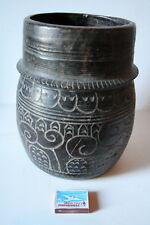 ANCIEN POT A MESURE EN BOIS HIMALAYA DU NEPAL