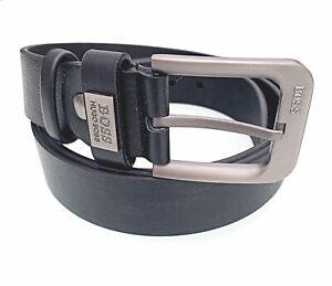 """Mens HUGO BOSS  Leather Belt Black 38-42"""""""