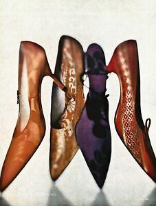 1959/84 Vintage IRVING PENN Female Shoe Fashion Heels Photo Engraving Art 12x16