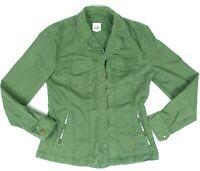 Gap Cotton Blend Green Long Sleeve Snap Button Front Denim Jacket Women Size S
