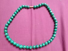 Malachite Green Beaded Necklace Tribal From Goa, India