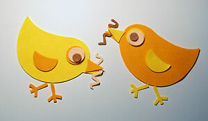 Felt Die Cut Birds Easter Chicks Chickens Hens Yellow Embellishments Appliques