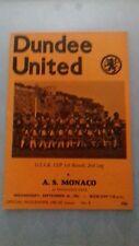 Dundee United v A.S. Monaco 30/9/81