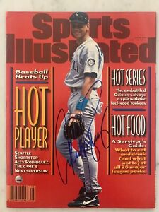 ALEX RODRIGUEZ Mariners Signed SPORTS ILLUSTRATED with Steiner COA NO Label
