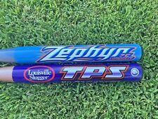 """2 Louisville Slugger TPS C1C Zephyr Fast Pitch composite 32""""/20 Oz Softball Bat"""