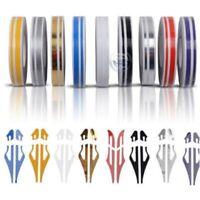 Car Body 12mm Line Pin Stripe Double Line Tape Vinyl Decal DIY Sticker Gold