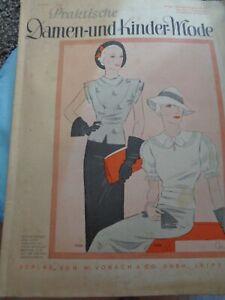 Vobach Praktische Damen- und Kindermode 1934 Schnittmuster 30er Jahre