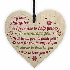 Daughter Daddy Gifts Mother And Daughter From Mum Wood Heart Birthday Xmas Gift