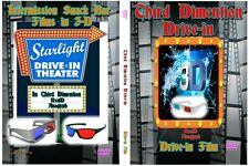 THIRD DIMENTION DRIVE-IN 3D Intermission Movie trailers DVD Anaglyph film