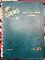 Original Tektronix Instruction Manual for the 130 LC Meter