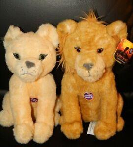 DISNEY The LION KING LIVE Plush Talking Simba & Nala Stuffed Animal Toy Lot