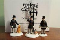 Dept 56 Dickens Village 1989 Accessory 3 Piece CONSTABLES 55794 Retired