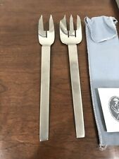 CARL AUBOCK Culinar Collini AUSTRIA Stainless SERVING SPOON FORK UTENSIL MCM VTG