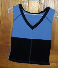 Good Body Wear Neoprene Hot Sauna Workout Top Blue Black Exercise Fitness Shirt
