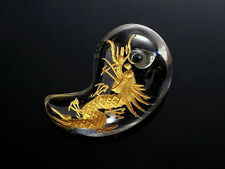 JAPANESE OMAMORI MAGATAMA DRAGON Crystal carving SHIRASAKI Shrine 2cm