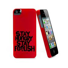 Coque ® Stay Hungry Stay Foolish rouge Pour iPhone 5 5S