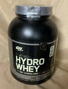 NEW! Optimum Nutrition Platinum Hydro Whey 3.5 Lb Chocolate exp 11-30 BCAA