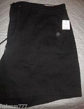 New Designer Tommy Hilfiger Women 12 - 14 Black Heavy Cotton Pocket Shorts