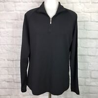 Nike Golf Women's Large 1/4-Zip Pullover Top Black Long Sleeve Fit Dry