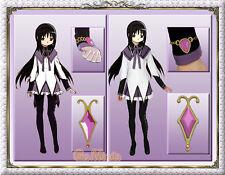 Japan Anime Puella Magi Madoka Magica Homura Akemi Purple Costume Deluxe Set