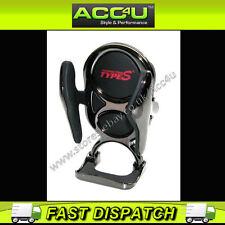 Tipo S Negro coche de cromo de ventilación de aire o el salpicadero Adhesivo Mount soporte para teléfono móvil
