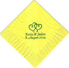 200 PERSONALIZED  luncheon dinner NAPKINS WEDDING