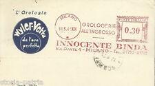 FILATELIA_PUBBLICITARIA POSTALE_OROLOGERIA_OROLOGI WYLER VETTA_MILANO_BINDA_1941