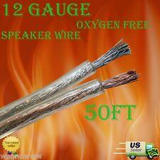 12 GAUGE 50Ft Oxygen Free Speaker Wire