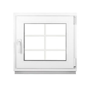 das Fenster mit Sprossen 2 Fach BxH 1000x1000 mm Dreh-Kipp Weiß - Premium
