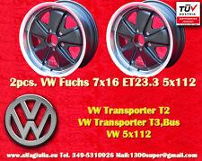 2 Cerchi Volkswagen T2 T3 Fuchs 7x16 5x112 Wheels Felgen Jantes llantas TÜV