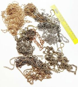 Vintage lot of mixed metal chain for jewelry making, crafts or repair #6