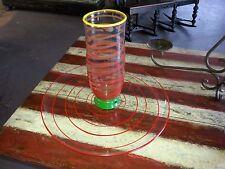 Art Glass Vase & Platter with Applied Rings