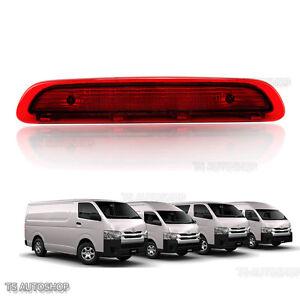 Rear Third Brake Light Lamp Red For Toyota Hiace Commuter Van 2005 - 2010 2015