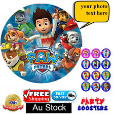 PAW PATROL CUPCAKE AND CAKE EDIBLE TOPPERS BIRTHDAY WAfer Paper