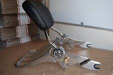 NEW Adjustable and Detachable Backrest SissyBar with LOCK Harley Touring 09UP