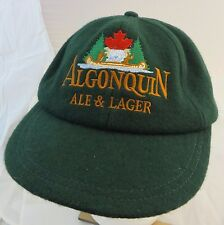 Roots wool Algonquin Ale & Lager beer baseball cap hat adjustable buckle Canada