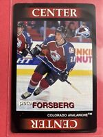 2996 Ultimate Team Out Hockey Peter Forsberg Colorado Avalanche Playing Card