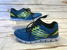 RBX Jessie Mesh Lace-Up Boys Black Girls Youth 4 Sneakers Shoes Neon Blue Green