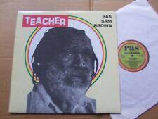 RAS SAM BROWN,TEACHER lp m-/m- real authentic sound RAS 3074 USA 1991 jacket CA